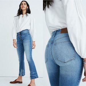 Madewell Cali Demi-Boot Jeans in Bess Wash 24